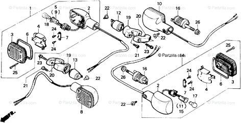 Honda Motorcycle Oem Parts Diagram For Turn Signal
