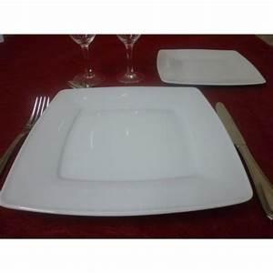 Service De Table 18 Pièces : service de table assiettes carr es 18 pi ces en porcelaine blanche centre vaisselle sarl la ~ Teatrodelosmanantiales.com Idées de Décoration