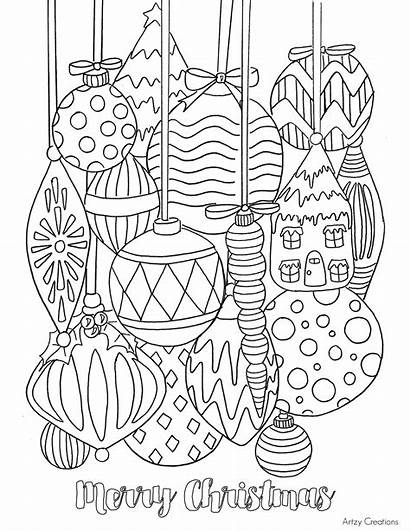 Coloring Christmas Ornament Printable Fun Grandma