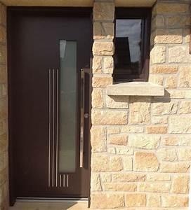 Barre De Porte D Entrée : pose de porte d 39 entr e aluminium contemporaine et design ~ Premium-room.com Idées de Décoration