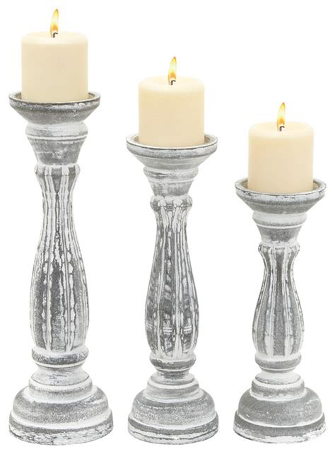 white wooden candle holders wood candle holder set of 3 white modern