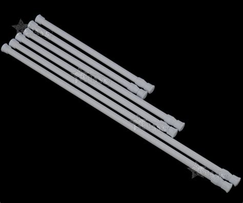 No Drill Curtain Rods Uk by 2pcs Loaded Extendable Telescopic Net Voile Tension