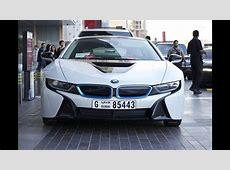 BMW i8 at Dubai Mall it's a rental car! YouTube