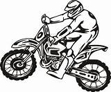 Dirt Coloring Bike Pages Honda Bikes sketch template