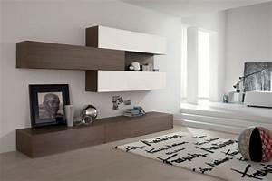 Meuble Mural Salon : meubles de salon 96 id es pour l 39 int rieur moderne en photos superbes ~ Teatrodelosmanantiales.com Idées de Décoration