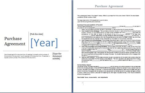 purchase agreement template word ms word purchase agreement form template word excel templates