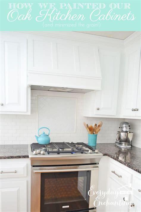 paint oak cabinets  hide  grain painting