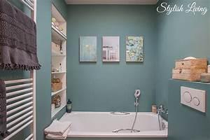 Kleines Bad Ganz Groß : kleines bad in farbe mit wandleuchte lena von click werbung stylish living ~ Sanjose-hotels-ca.com Haus und Dekorationen