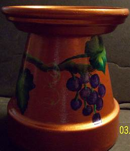 123 best things i39ve painted created images on pinterest With what kind of paint to use on kitchen cabinets for terracotta candle holders