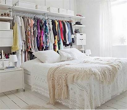 Clothes Bed Behind Closet Storing