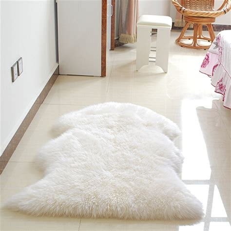 Chair Carpet Mat hairy carpet sheepskin chair cover bedroom faux mat seat