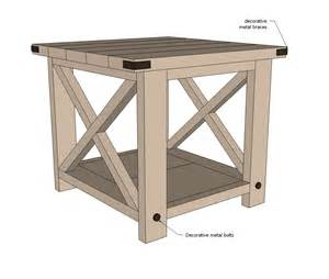 woodworking plans end tables free quick woodworking projects