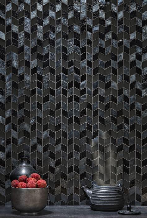 black  iridescent  field tile oceanside glass tile