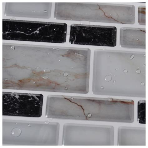 kitchen backsplash stick on peel n stick kitchen backsplash tile brick pattern