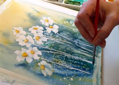 How to Paint a Daisy in Watercolor