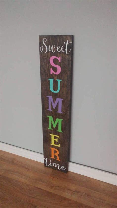 sweet summer time summer sign reversible sign