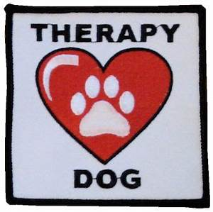 raspberryfield.com: THERAPY DOG PATCHES