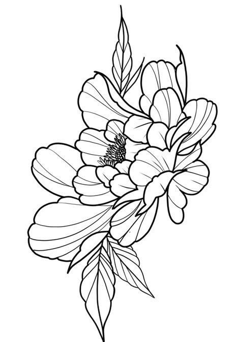Peony tattoo design | Peonies tattoo, Peony flower tattoos, Flower drawing