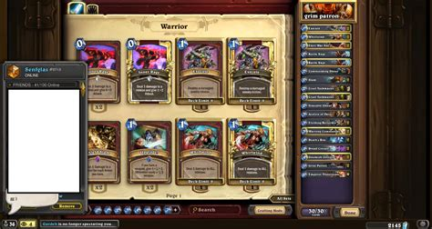 warrior deck hearthpwn icy senfglas arcane patron otk hearthstone decks