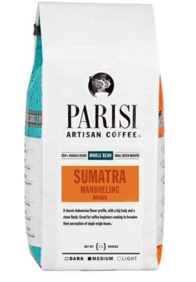 Selecting, roasting and brewing it right is an art. Parisi Coffee (Kansas City, MO) Sumatra Mandheling is a medium roast single origin. I get some ...