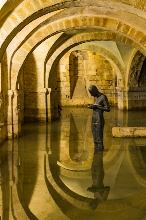 Antony Gormley Sound II, Winchester Cathedral, Winchester