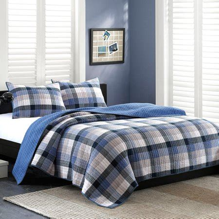 Blue Coverlets For Beds by Ink Maddox Coverlet Set In Blue King Walmart
