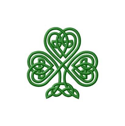 Celtic Shamrock Embroidery Knot Tattoos Clip Irish