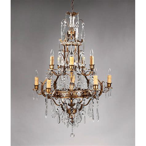 bronze chandelier with crystals sconce lights glass 2