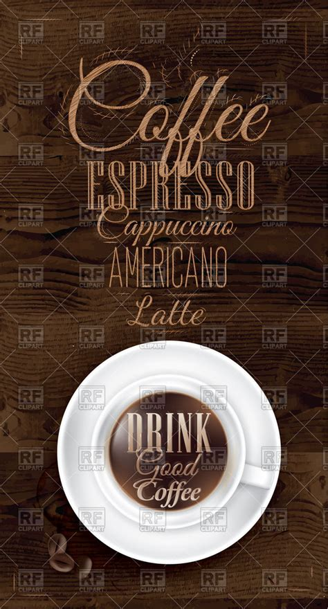 cafe poster drink good coffee lettering cup  coffee