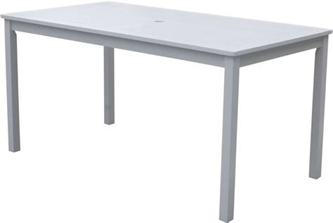 white rectangular dining table vifah bradley rectangular white outdoor dining table