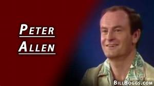 Peter Allen Interview with Bill Boggs - YouTube
