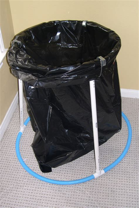 easy trash bag holder replaces bulky cans