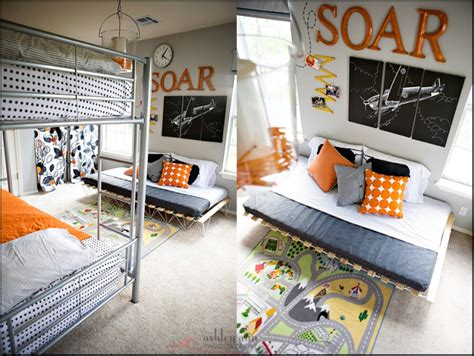 Orange. Airplanes. Not Girly {shared Boy's Bedroom