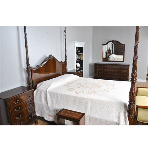 king size mahogany  poster bed niagara furniture