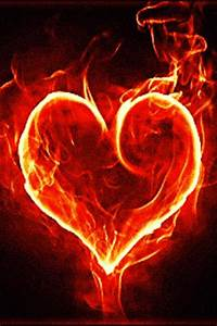 Android Phones Wallpapers: Android Wallpaper Fire Heart