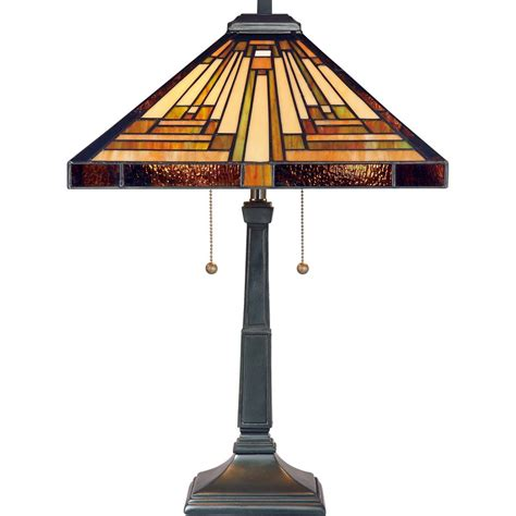 quoizel tf885t stephen 2 light tiffany table l vintage