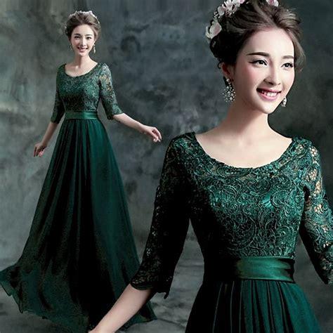 hot sale  luxury emerald green prom dress long