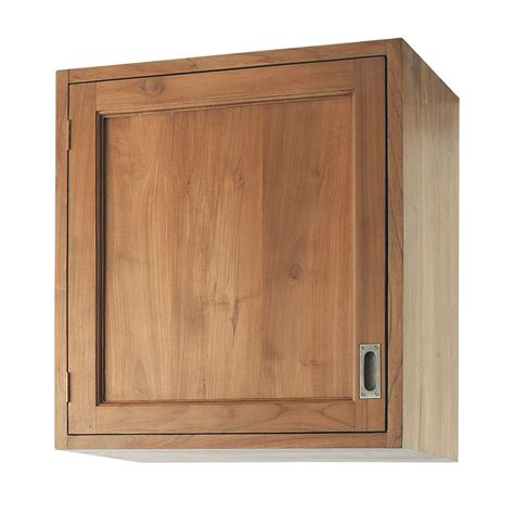 cuisine droite meuble haut de cuisine ouverture droite en teck massif l