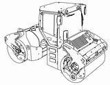 Coloring Tandem Roller Articulated Vibratory Perspective Wecoloringpage sketch template