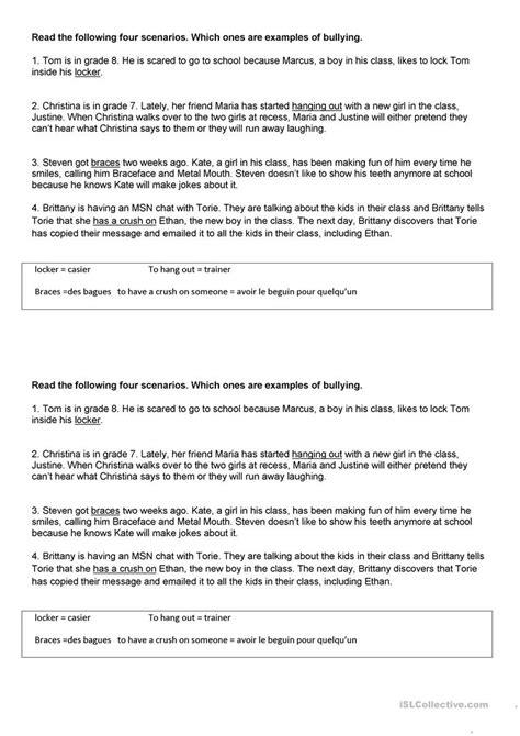 worksheet anti bullying worksheets grass fedjp worksheet