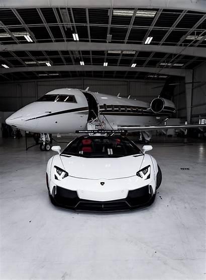 Lamborghini Aventador Plane Luxury Sports Background