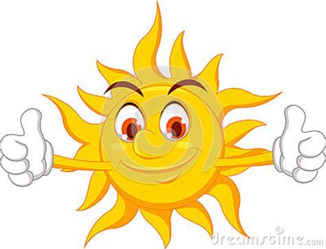 sun cartoon character  thumb  royalty  stock