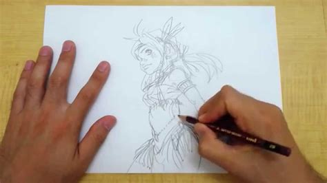 cr馥r sa chambre 3d イラストの描き方 踊り子風な女性キャラ step1 鉛筆