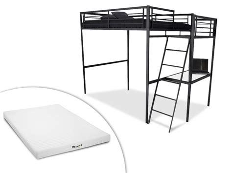 canapé lit couchage quotidien lit mezzanine casual ii 2 personnes bureauoption matelas