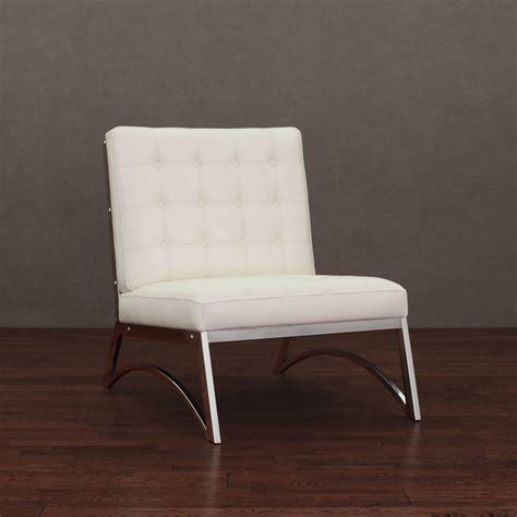 madrid modern white leather chair contemporary