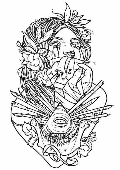 Tattoo Coloring Pages Tattoo4