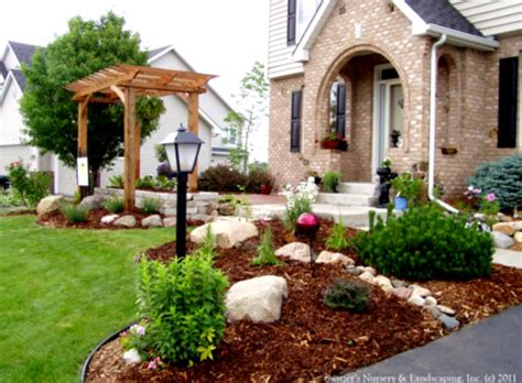 Simple Landscaping Ideas On A Budget Pictures Of Front