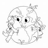Coloring Earth Planet Pages Planets Drawing Venus Cartoon Template Peace Childrens Hugging Crafts Books Activities Mother Printable Sheet Getdrawings Children sketch template