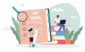 Instructions For Use With User Manual Stock Vector