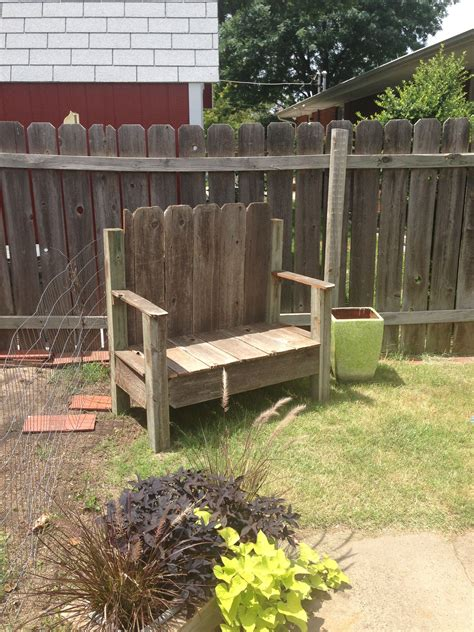bench    fence diy backyard fences fence decor